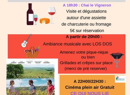 Cinéma en plein air le                         Jeudi 11 Juillet 2019