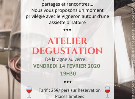 Moment privilégie avec le vigneron le 14 Février 2020