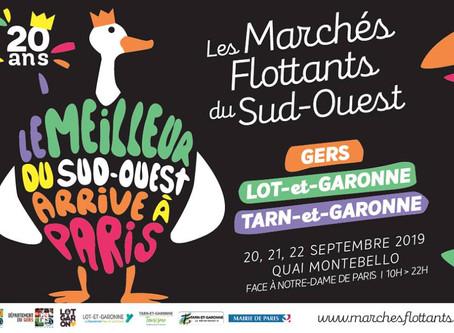 Venez nous retrouver sur les bords de Seine du 20 au 22 Septembre avec Les Marchés Flottants !