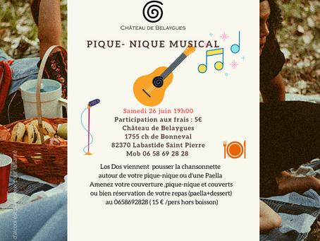 Pique Nique Musical le 26 Juin