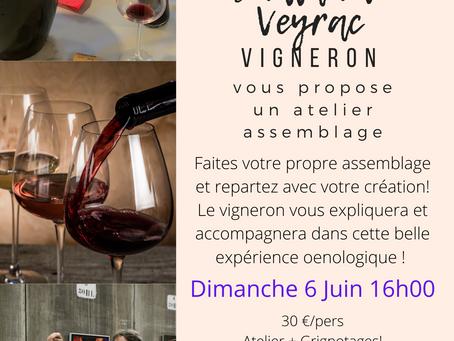Atelier Assemblage avec le vigneron le Dimanche 6 Juin 2021