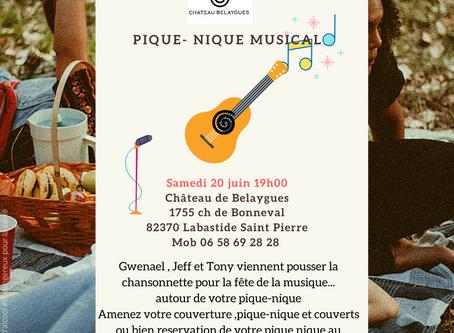 Château de Belaygues fête la musique le 20 Juin..