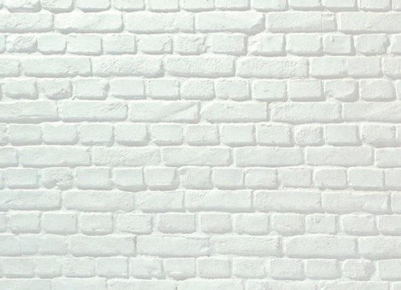 Dekorpaneele Loft Backstein Weiß