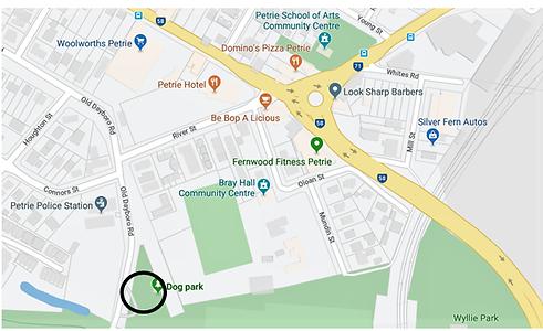 Location Sweeney Reserve Petrie Dog Park