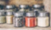 Especias en tarros
