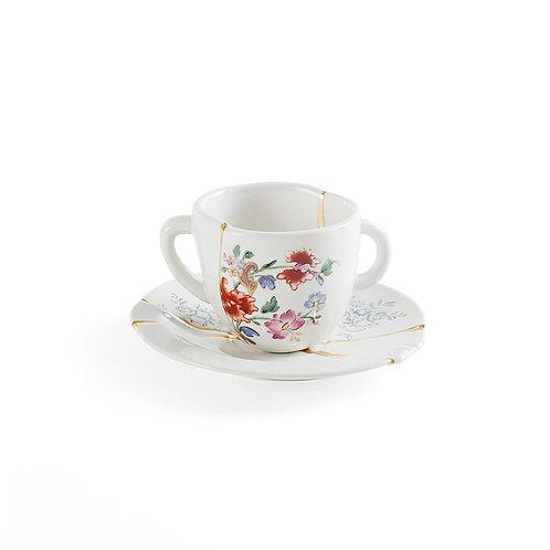 Tazzina da caffe' con piattino Kintsugi 1 Seletti
