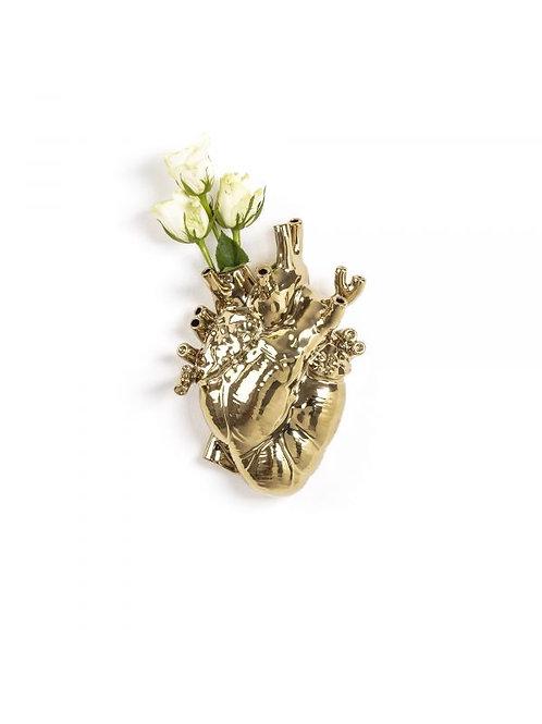 """Vaso SELETTI in porcellana """"love in bloom gold"""""""