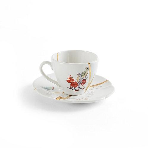 Tazzina da caffe' con piattino Kintsugi 2 Seletti
