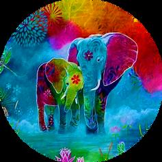 Elefantes Naturaleza Colors