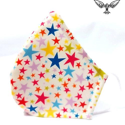 Mascarilla Diseño Estrellas colores