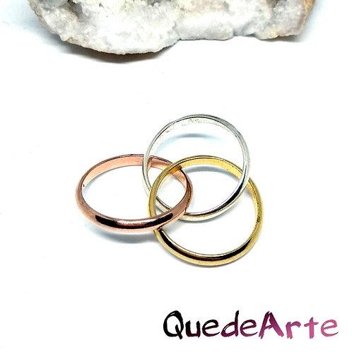 Anillo Plata 3 Colores