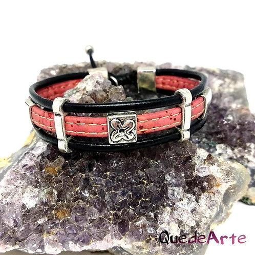 Pulsera Diseño - Roja y Negra