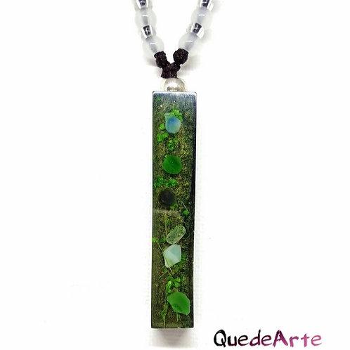 Colgante Energético Orgonita - Jade Verde