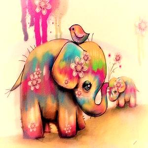 Elefantitos Colores
