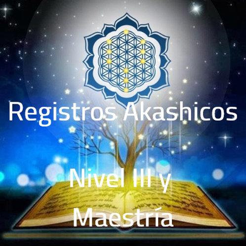 NIVEL III Y MAESTRIA REGISTROS AKASHICOS
