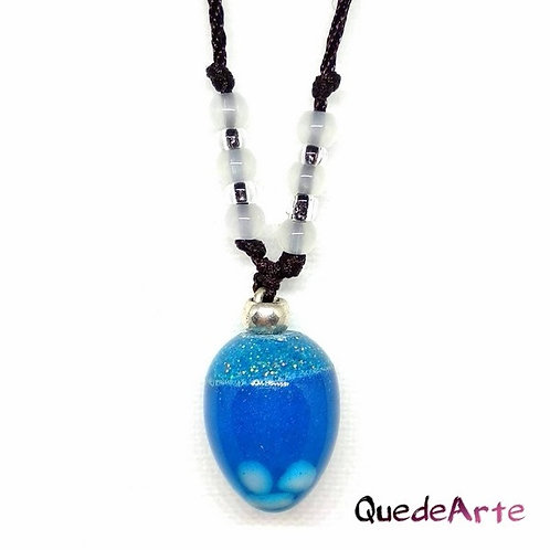 Colgante Energético Orgonita - Esfera Azul cuarzos