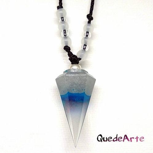 Colgante Energético Orgonita - Péndulo azul