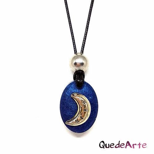 Colgante Energético Orgonita - Luna Azul