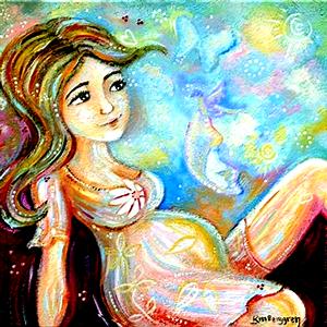 Embarazada pintura