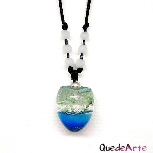 Colgante Energético Orgonita - Esfera azul verdosa