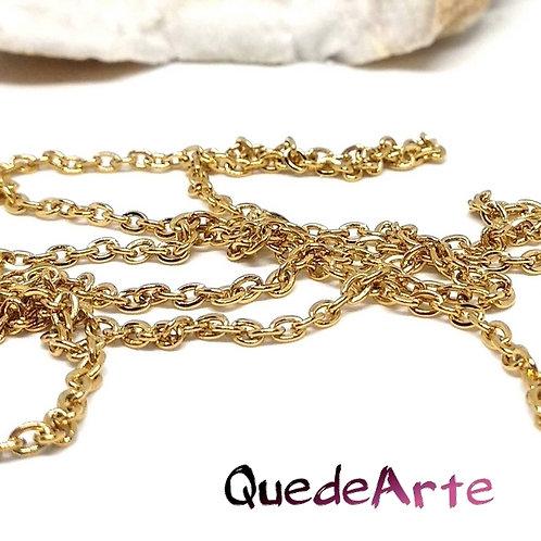 Cadena Acero Inox bañada Oro