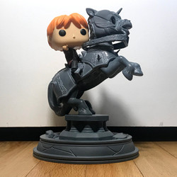 82 Ron Weasley Riding Chess Piece