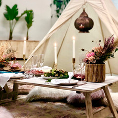 This feature teepee is great for photo's and to fill a big room