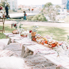A whiter shade of pale styled picnic
