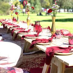 Marrakesh styled picnic. Bright & fun.