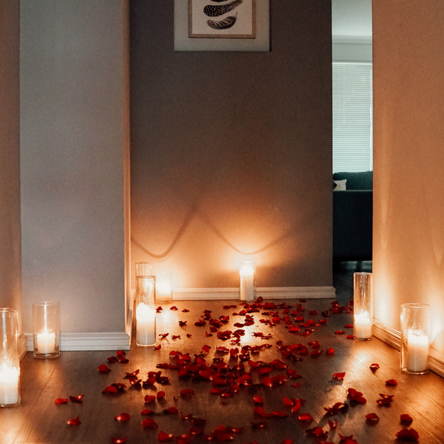 A proposal set up in a private home