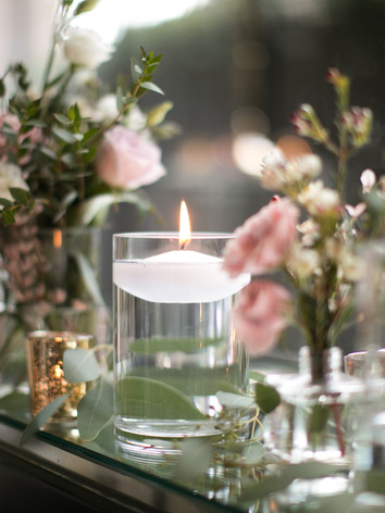 Top Table rustic wedding flowers