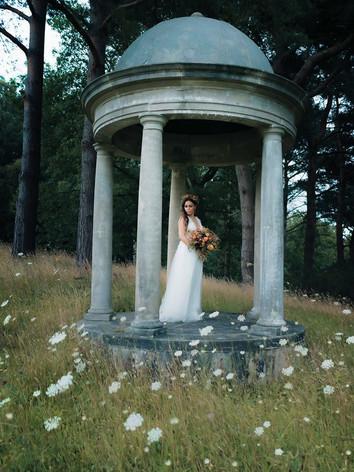 Wild flower wedding shoot