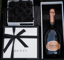 Gucci and preserved Rose Gift Presentation Box
