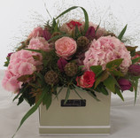 Pink Accent Flower Gift Box