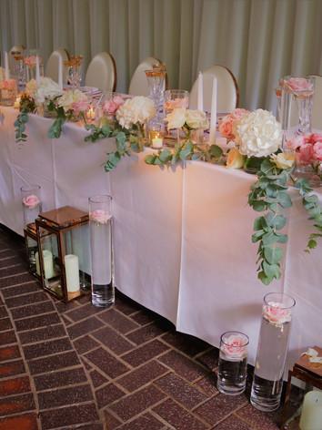 Top table wedding decoration