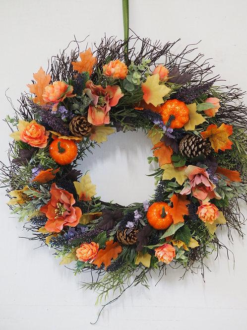 Silk Flower Door Wreath