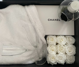Chanel Gift Box With Forever Roses