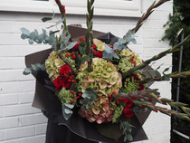 Show Stopper with Hydrangea and gladioli