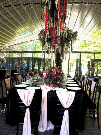 Hanging floral centrepiece