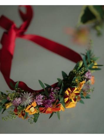 Flower hand made wedding headband