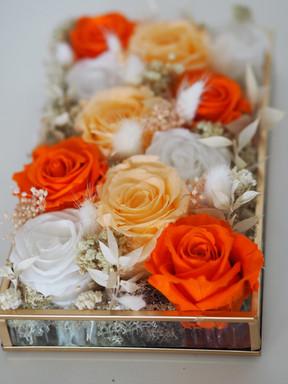 orange preserved table to box