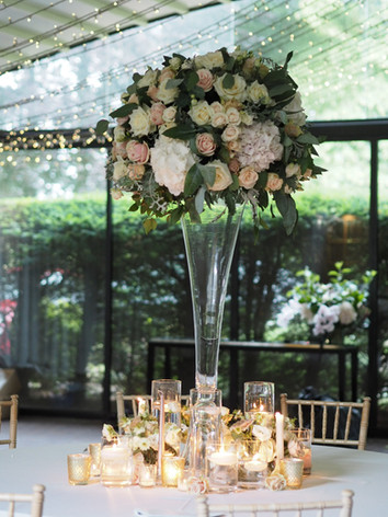 Large tall table centres