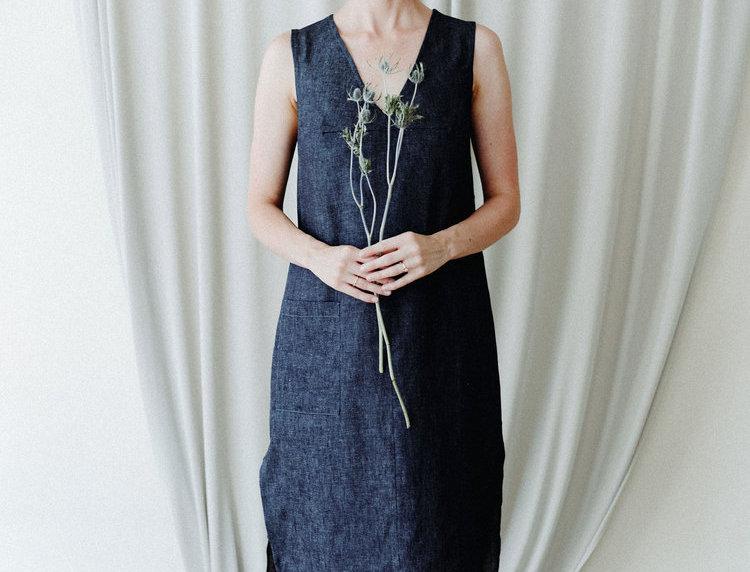 Virgo Dress - Hemp Denim
