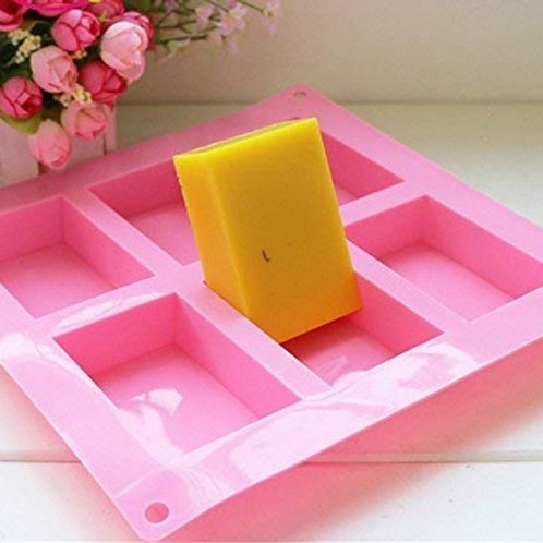 Darmika Silicone Soap Moulds for Soap Making, Loaf, Muffins etc 100g each