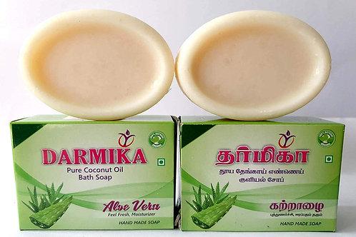 Darmika Organic handmade Aloe Vera Soaps 5 nos