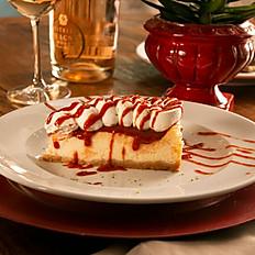Baked Cheesecake com calda de goiabadada e limão Taiti