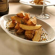 Batata rustica com sal e alecrim