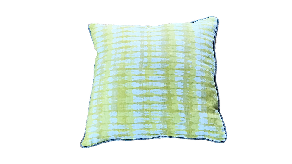 "Natural Linen Tie Dye Lumbar Pillow Cover 20"" x 20"""