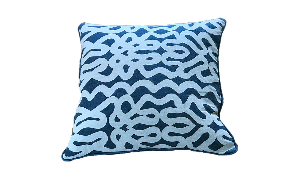 "Abstract Linen Pillow Cover 22"" x 22"""