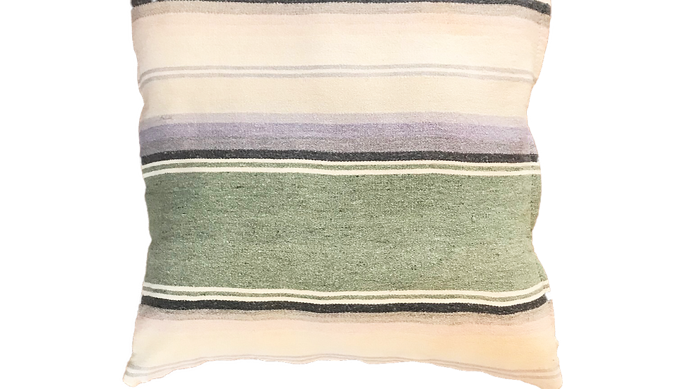 """Pastel Striped Mexican Style Blanket Pillow Cover 17"""" x 17"""""""